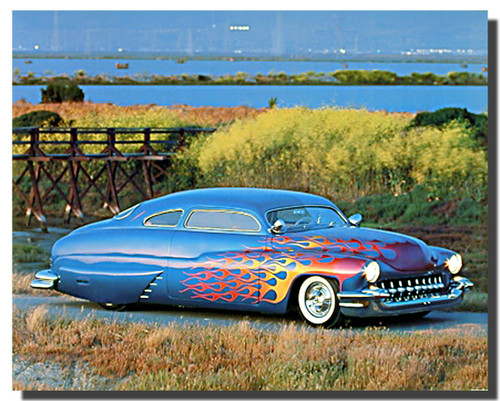 1949 Custom Mercury Car Posters