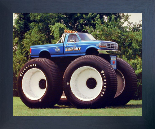 1993 Ford Racing  Monster Truck Wall Poster (Espresso Framed Picture Art Print - 20x24)
