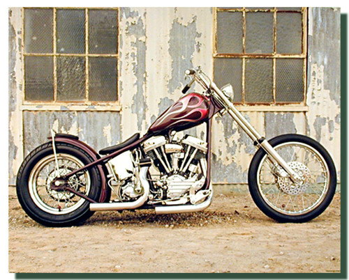 Chopper Motorcycle Poster