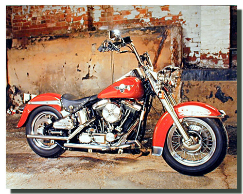 Red Harley Davidson Motorcycle Posters