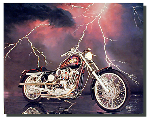 1971 XLH Harley Sportster Motorcycle Posters