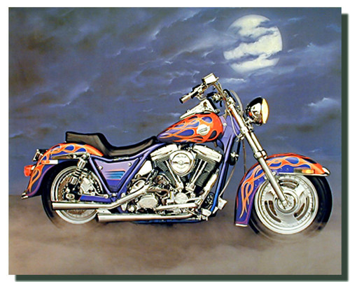 1986 FXR Harley Motorcycle Posters