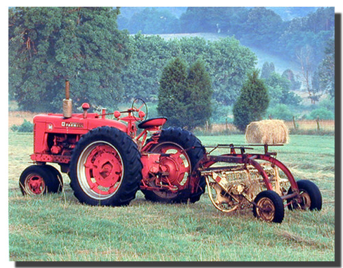 Farmall Red Tractor Poster