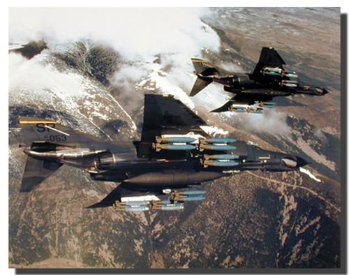 F-4E Phantom Poster-Missiles Military
