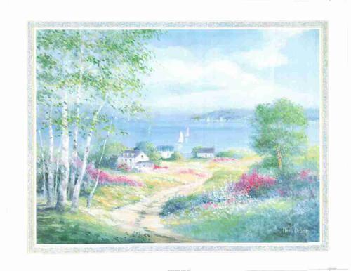 Wonderful Scenery Painting By Nora Debolt Fine Art Print Poster (24x36)