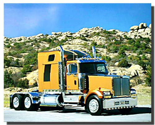Gold Big Rig Richard Stockton Truck Poster