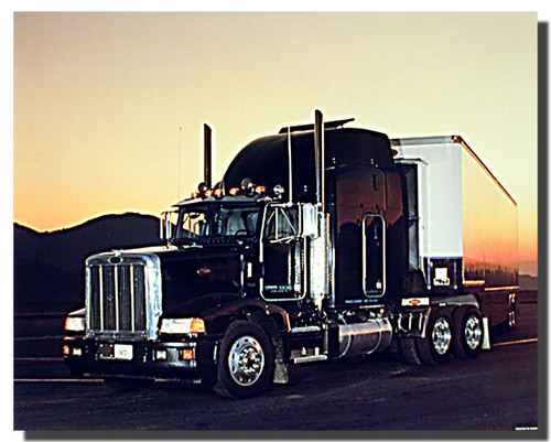 Peterbilt Semi With Trailer Big Rig Truck Poster