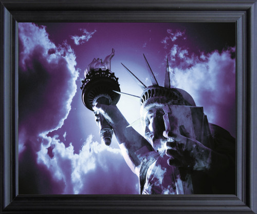 Freedom with Liberty and Justice for All Inspirational  Black Framed Art Print Poster (19x23)