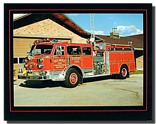American Lafrance Fire Truck Poster