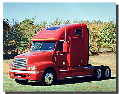 Freightliner Diesel Red Truck Poster