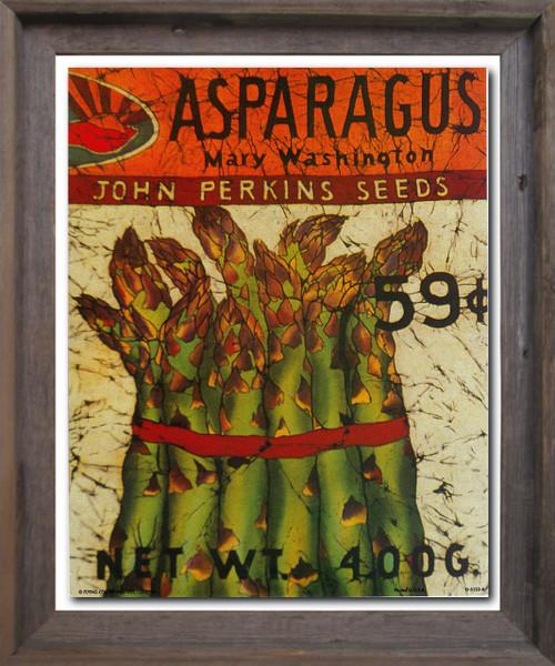 Vintage Arthur Kaplan Lithograph Asparagus Mary Washington