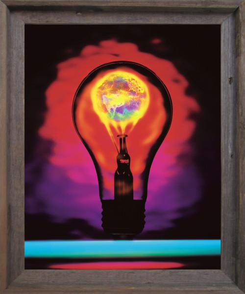 Idea Inspirational & Motivational Wall Décor Barnwood Framed Art Print Poster (19x23)