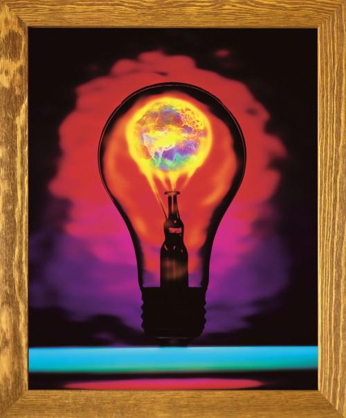 Idea Inspirational & Motivational Wall Décor Brown Rust Framed Art Print Poster (19x23)