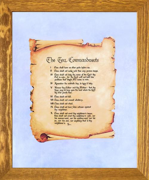 Ten Commandments Catholic Christian Religious Quote Wall Decor
