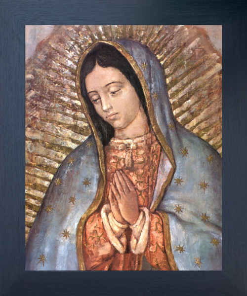 Our Lady Of Guadalupe Mexico Virgin Mary Religious Espresso Framed Art Print Poster (18x24)