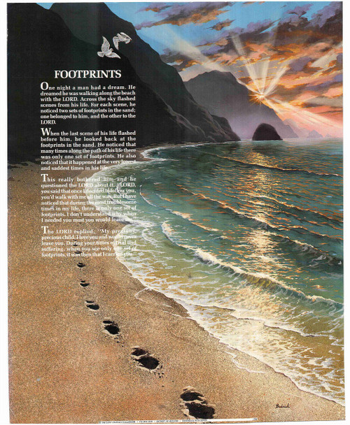 Footprints in the sand prayer