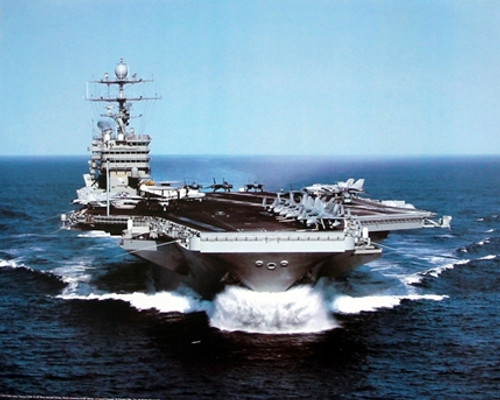 USS Harry Truman US Navy Aircraft Carrier Wall Decor Art Print Poster (16x20)