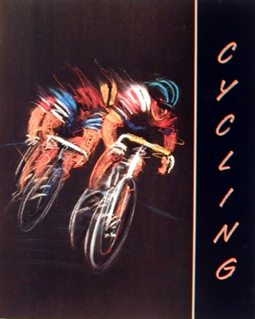 Cycling Bicycle Race Sport Motivational Wall Decor Art Print Poster (16x20)