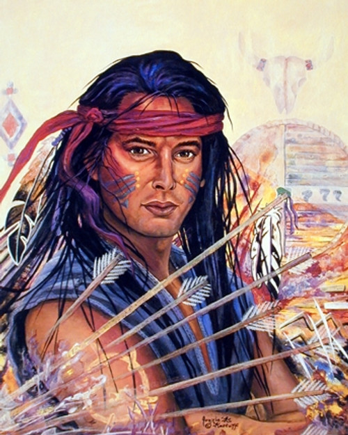 Native American Indian Brave Warrior Wall Decor Art Print Picture (16x20)