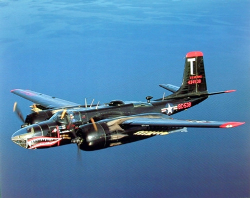 A-26 Invader Bomber WWII Vintage Aviation Aircraft Wall Decor Art Print Poster (16x20)