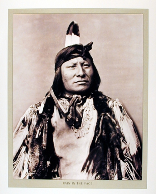 Rain In The Face Indian Chief Native American Wall Decor Art Print Poster (16x20)