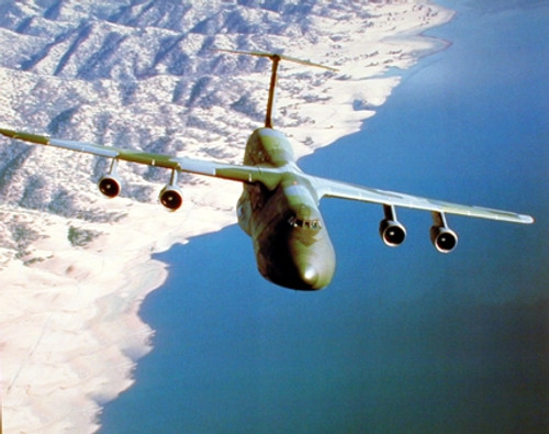 Military C-5 Cargo Plane Aircraft Aviation Wall Decor Art Print Poster (16x20)