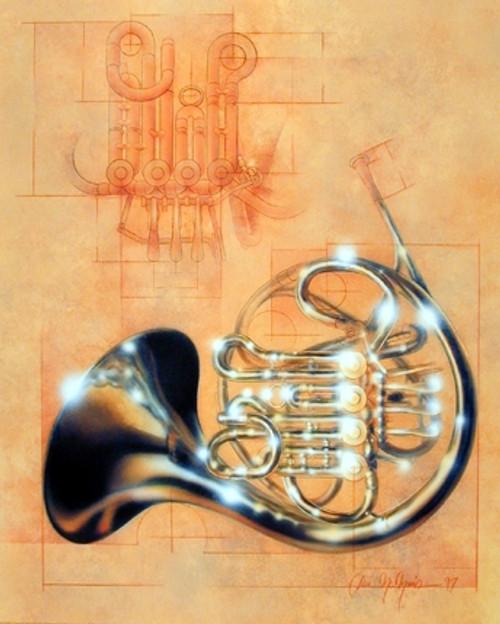 French Horn Musical Instrument Jazz Wall Decor Art Print Poster (16x20)