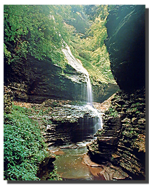 Watkins Glen New York Waterfall  Poster