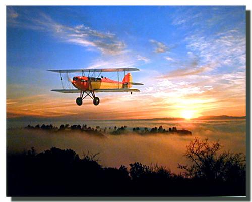 WACO 10 Biplane Poster