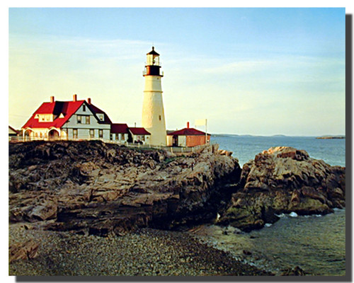 Portland Maine Lighthouse Poster