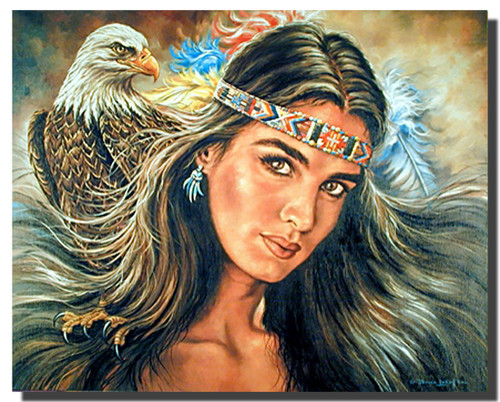 The Guardian Eagle Native American Posters