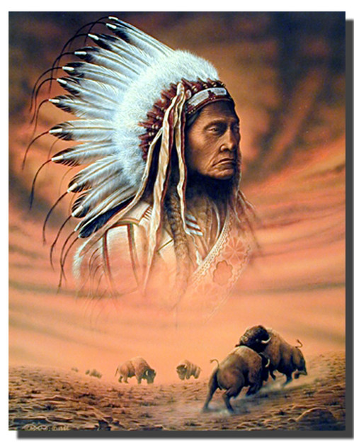 Chief and Fighting Buffalo Posters