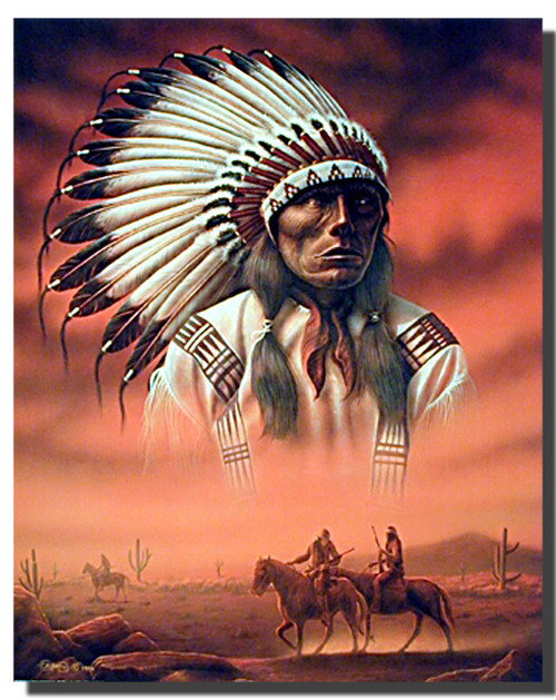 Chief with Riders Posters