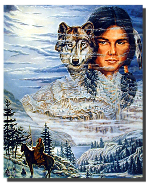 Brave and Wolf Posters