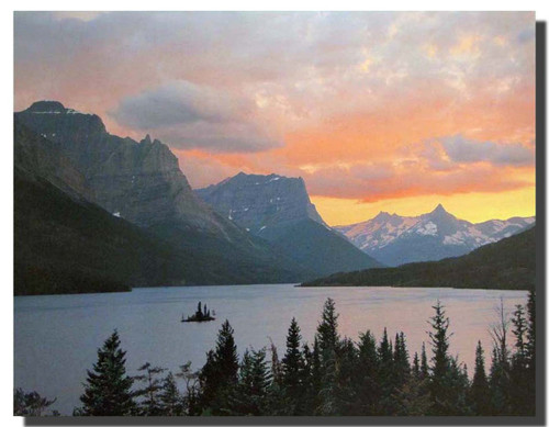 Glacier National Park Poster — St. Mary Lake