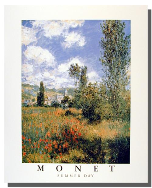 Claude Monet Poster - Summer Day Garden