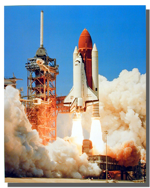 NASA Space Shuttle Blastoff Poster