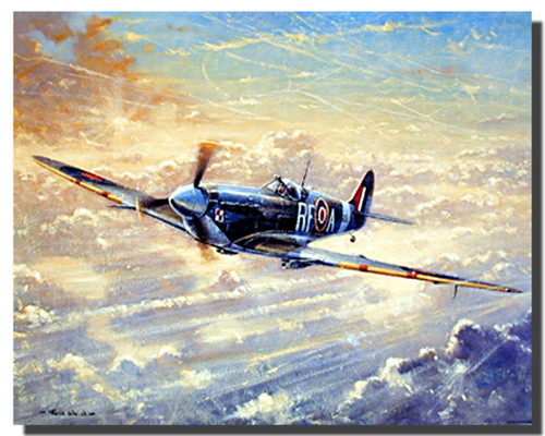Spitfire Painting Poster