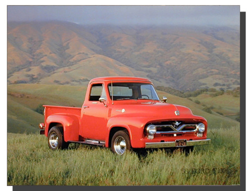 Pick Up Truck Poster — 1955 Ford F-100