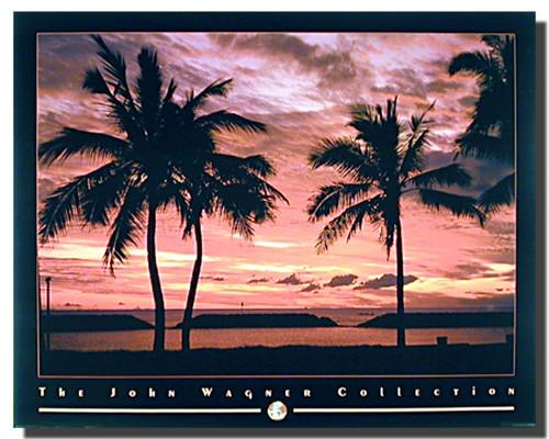 Coastal Mood Sunset Palm Trees Posters