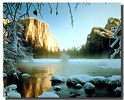 Yosemite in Snow Posters