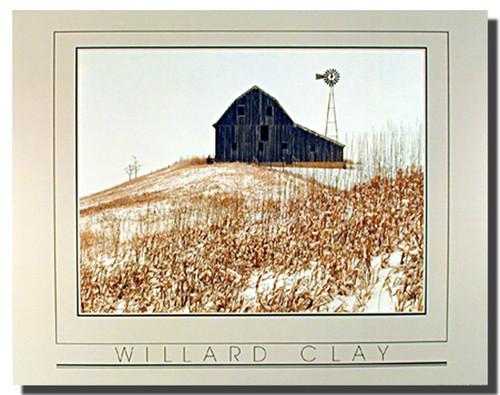 Winter Barn Willard Clay Posters