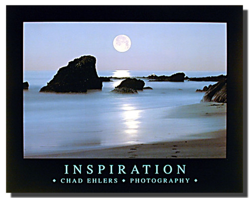 Inspiration Ocean Beach Poster