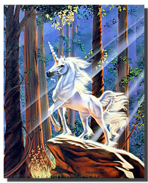 Unicorn Poster- Light in the Forest