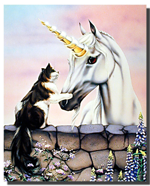 Friends Cat Unicorn Poster
