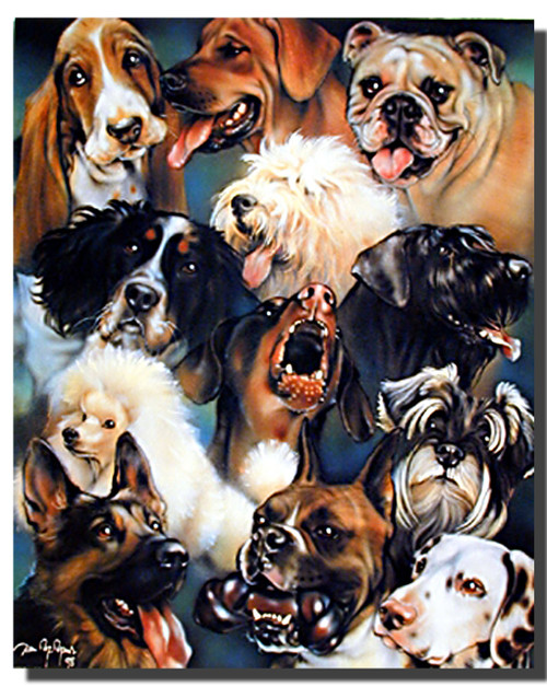 Dogs Collage Poster
