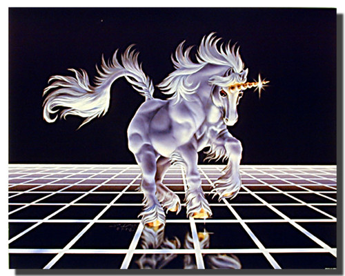 Unicorn Poster - On the Grid