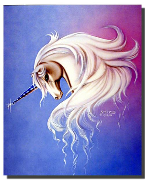 Lavender Mist Unicorn Poster