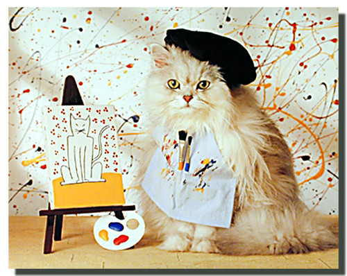 Painter Cat Poster