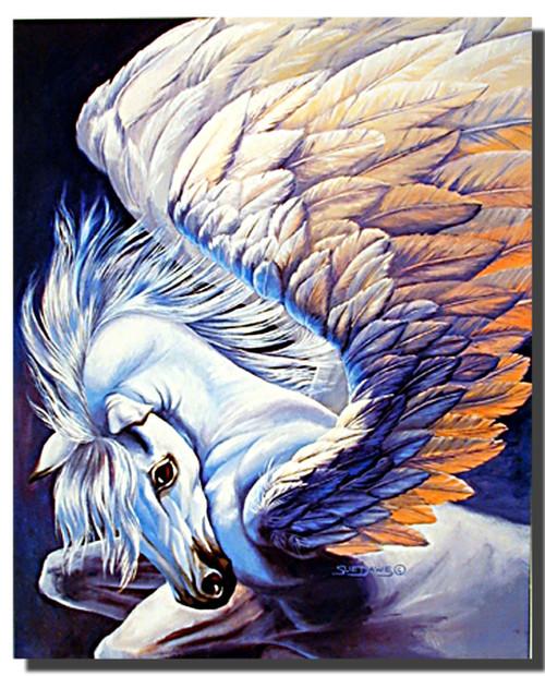 Pegasus Winged Horse Poster- Fantasy